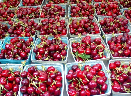 First of the season cherries at Bill's Fruit. Photo copyright 2009 by Zachary D. Lyons.