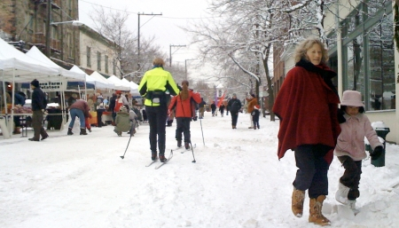 On the Winter Solstice last year, skis were as good a mode of transportation as any. Photo copyright 2008 by Jon Hegeman.