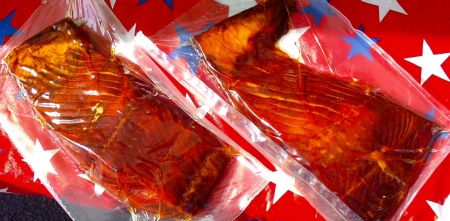 Smoked salmon from Wilson Fish. Photo copyright 2009 by Zachary D. Lyons.