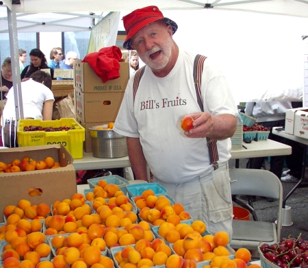 You would have this expression on your face, too, if you had just eaten an apricot from Bill's Fruit. Photo copyright 2009 by Zachary D. Lyons.