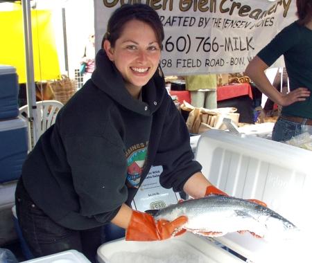Fresh whole keta salmon from Loki Farm. Photo copyright 2009 by Zachary D. Lyons.