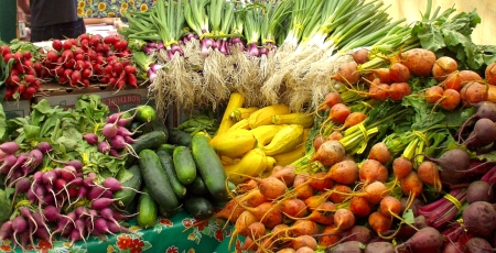 A gorgeous display by Nash's Organic Produce. Photo copyright 2009 by Zachary D. Lyons.