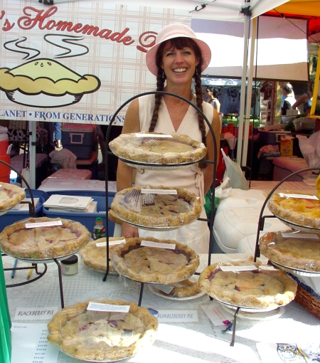 Deborah, and her pies at Ballard Farmers Market. Copyright Zachary D. Lyons.