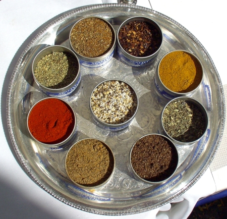 Just some of the many spices and rubs from the Seattle Spice Company. Photo copyright 2009 by Zachary D. Lyons.