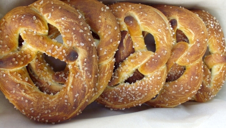 Soft pretzels from Tall Grass. Photo copyright 2009 by Zachary D. Lyons.