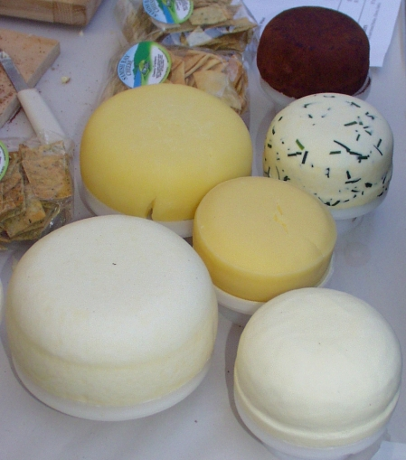 Samish Bay Cheese makes a variety of delicious farmstead cheeses. Photo copyright 2009 by Zachary D. Lyons.