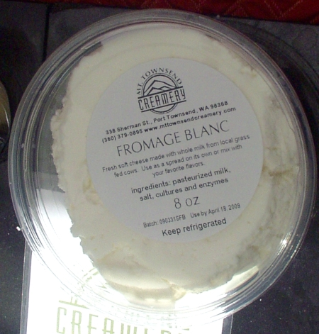Fromage blanc from Mt. Townsend Creamery. Photo copyright 2009 by Zachary D. Lyons.