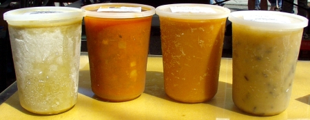A variety of soups by Got Soup? Photo copyright 2010 by Zachary D. Lyons.