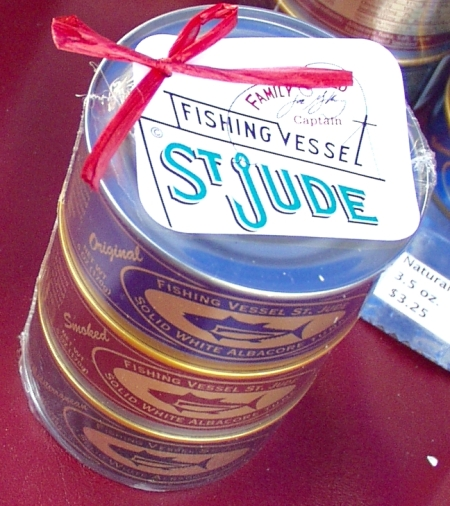 A sampler pack of canned tuna from Fishing Vessel St. Jude. Photo copyright 2010 by Zachary D. Lyons.