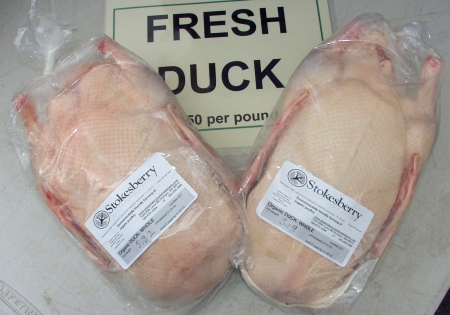 Fresh ducks from Stokesberry Organic Poultry. Photo copyright 2010 by Zachary D. Lyons.