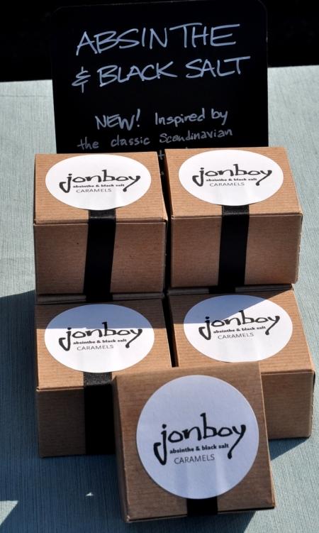 Absinthe & Black Salt caramels from Jonboy. Photo copyright 2010 by Zachary D. Lyons.
