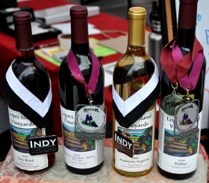 Award winning wines from Lopez Island Vineyards. Photo copyright by Zachary D. Lyons.