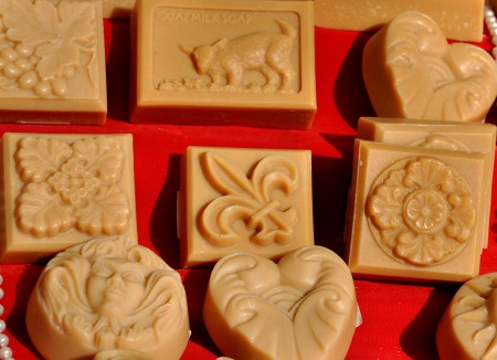 Goat milk soap from Harmony's Way. Photo copyright 2011 by Zachary D. Lyons.