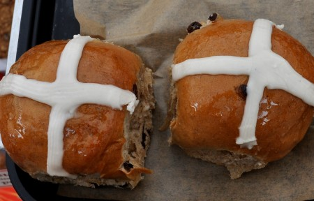 Hot Cross Buns for Easter from Grateful Bread Bakery. Photo copyright 2011 by Zachary D. Lyons.