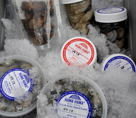 Shucked, smoked & pickled oysters from Hama Hama Oyster Farm. Photo copyright 2011 by Zachary D. Lyons.