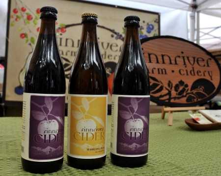 Sparkling ciders from Finnriver Farm & Cidery. Photo copyright 2011 by Zachary D. Lyons.