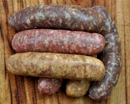 Fresh sausages from Sea Breeze Farm. Photo copyright 2011 by Zachary D. Lyons.