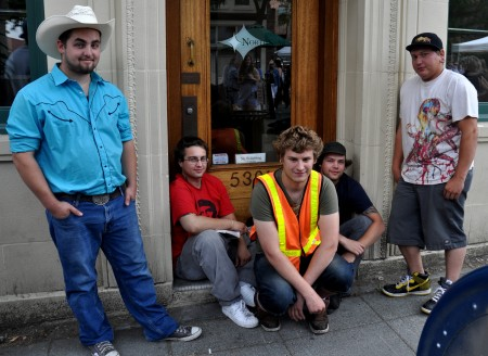 The Market Crew from a few years back at Ballard Farmers Market. Copyright Zachary D. Lyons.
