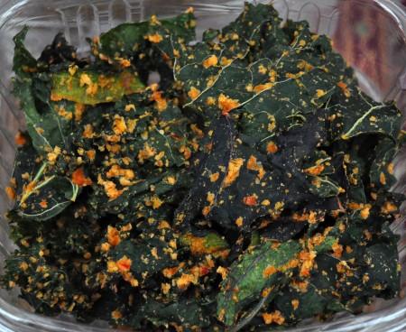 Kale, zucchini & collard chips from House of the Sun. Photo copyright 2011 by Zachary D. Lyons.