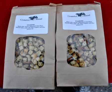 Seasoned croutons for stuffing from Grateful Bread Bakery. Photo copyright 2012 by Zachary D. Lyons.