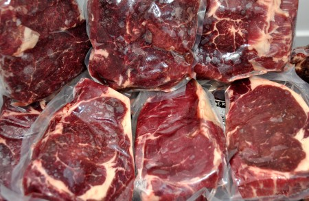 Beef steaks from Skagit River Ranch. Photo copyright 2012 by Zachary D. Lyons.