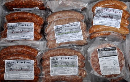Sausage from Skagit River Ranch. Photo copyright 2012 by Zachary D. Lyons.
