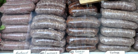 The sausages of Sea Breeze Farm. Photo copyright 2012 by Zachary D. Lyons.
