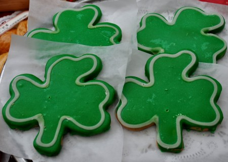 Shamrock cookies from Grateful Bread Baking. Photo copyright 2012 by Zachary D. Lyons.