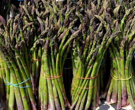 Asparagus from Lyall Farms.Photo copyright 2012 by Zachary D. Lyons.
