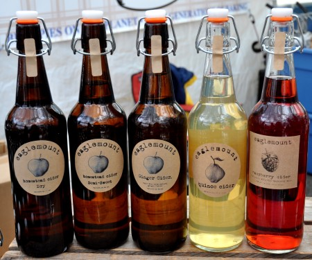 Hard ciders from Eaglemount Cidery. Photo copyright 2012 by Zachary D. Lyons.