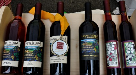 Red and berry wines from Lopez Island Vineyards & Winery. Photo copyright 2012 by Zachary D. Lyons.