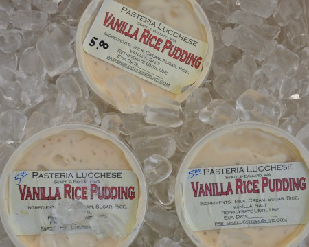 Vanilla rice pudding from Pasteria Lucchese. Photo copyright 2012 by Zachary D. Lyons.