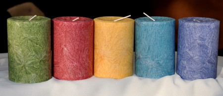 Unscented candles from Ascents Candles. Photo copyright 2012 by Zachary D. Lyons.