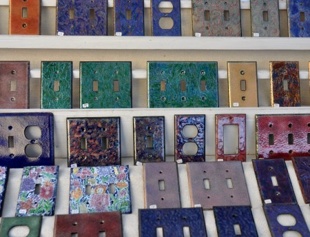 Decorative faceplates for your electrical outlets and switches from Dimensional  Colors. Photo copyright 2012 by Zachary D. Lyons.
