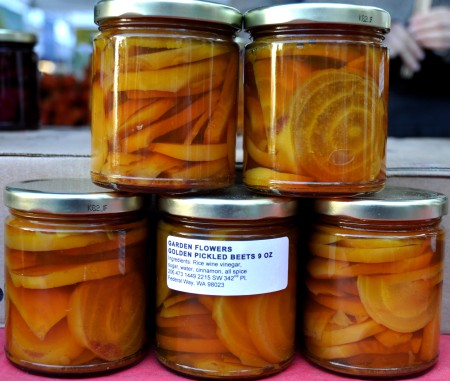 Pickled Golden Beets from Gaia's Natural Goods. Photo copyright 2012 by Zachary D. Lyons.