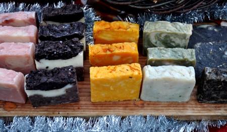 Handmade soaps from Karmela Botanica. Photo copyright 2012 by Zachary D. Lyons.