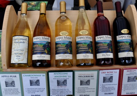 Wines from Lopez Island Vineyards & Winery. Photo copyright 2012 by Zachary D. Lyons.