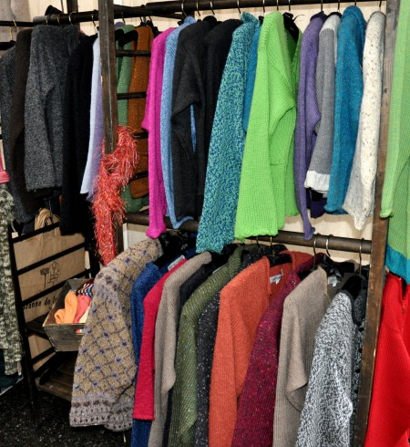 Hand-knitted clothing from Suzanne de la Torre at Ballard Farmers Market. Copyright Zachary D. Lyons.