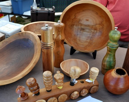 Beautiful, hand-turned wooden tableware from Vern Tater. Photo copyright 2012 by Zachary D. Lyons.