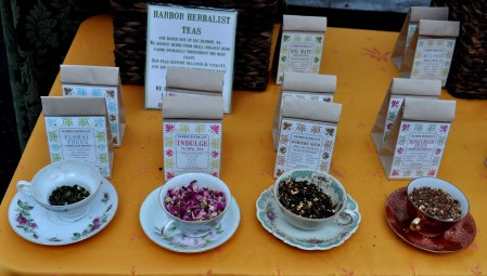 Herbal teas from Harbor Herbalist Teas. Photo copyright 2013 by Zachary D. Lyons.