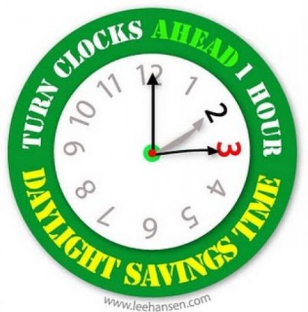 Did you set your clocks forward an hour for Daylight Savings Time? Image courtesy LeeHansen.com.
