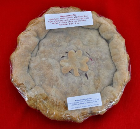 "An ""Irish"" marion berry pie from Deborah's Homemade Pies. Photo copyright 2013 by Zachary D. Lyons."