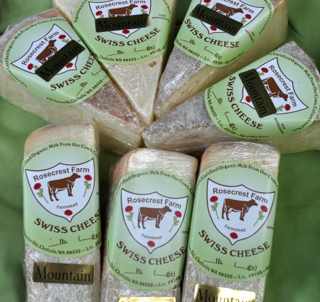 Mountain Swiss cheese from Rosecrest Farm. Photo copyright 2013 by Zachary D. Lyons.