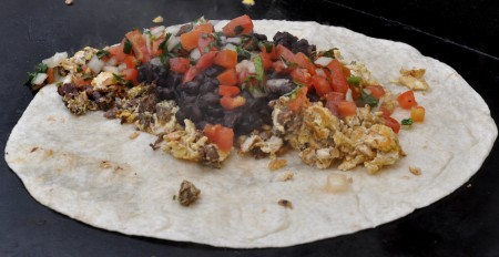 Breakfast burrito from Los Chilangos. Photo copyright 2013 by Zachary D. Lyons.