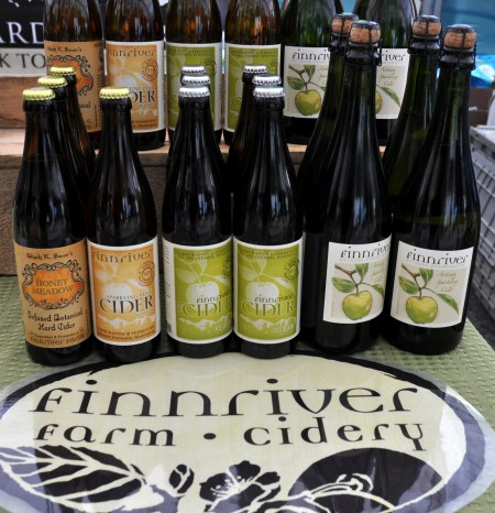 Some of the hard cider lineup at Finnriver Farm & Cidery. Copyright Zachary D. Lyons.