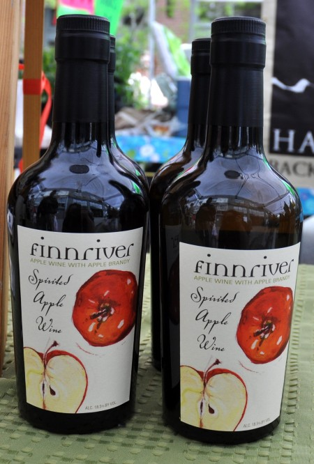 Spirited Apple Wine from Finnriver Cidery & Farm at Ballard Farmers Market. Copyright Zachary D. Lyons.