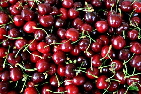 First-of-the-season Burlat cherries from Lyall Farms. Photo copyright 2013 by Zachary D. Lyons.