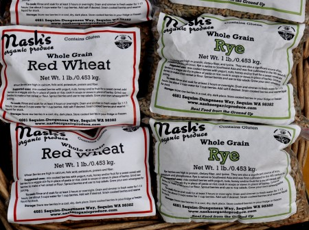 Whole grains from Nash's Organic Produce. Photo copyright 2013 by Zachary D. Lyons.