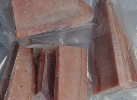 Albacore tuna loin portion from Fishing Vessel St. Jude. Photo copyright 2013 by Zachary D. Lyons.