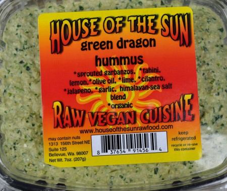 Green Dragon hummus from House of the Sun at Ballard Farmers Market. Copyright Zachary D. Lyons.